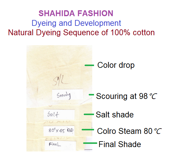 natural dyeing process of cotton