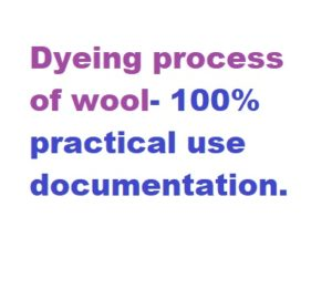 Dyeing process of wool
